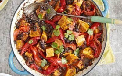 Recetas – Batata Jerk y curry de frijol negro