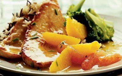 Recetas – Filetes de pavo con salsa de cítricos y jengibre