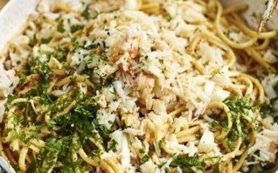 Recetas – Linguini de cangrejo con chile y perejil