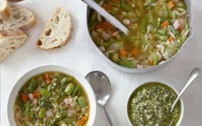 Recetas – Minestrone de frijol verde