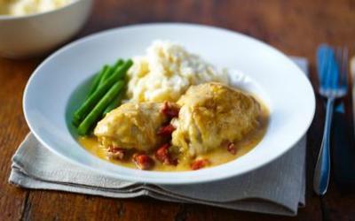 Recetas – Estofado de pollo a la sidra y chorizo