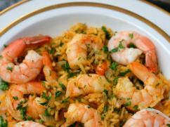 Recetas – Arroz con camarones al curry