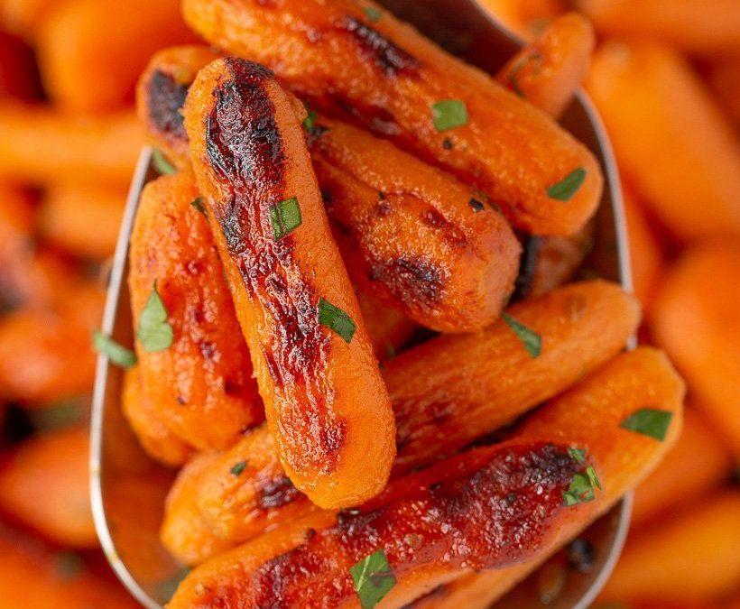 Las mejores zanahorias asadas glaseadas con miel