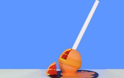 Pastel de piruleta de fusión