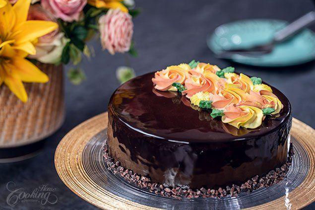 Pastel de Espejo con Chocolate y Naranja :: Aventura de cocina casera