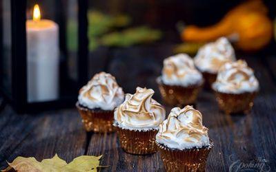 Cupcakes de calabaza y moca con merengue tostado :: Aventura de cocina casera