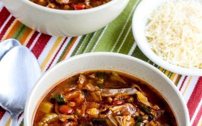 Sopa de verduras molida de res – Kalyn's Kitchen