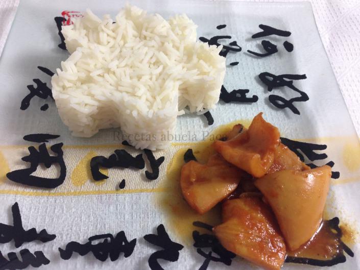 Jibia en salsa de coco