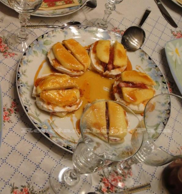 manzanas con quesode cabra al caramelo blog
