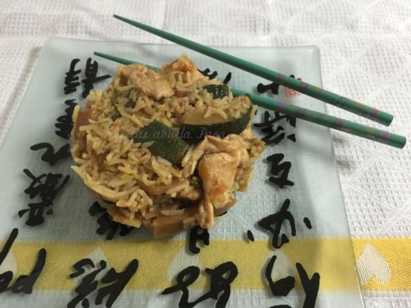 arroz con pollo y verduras al garam masala blog