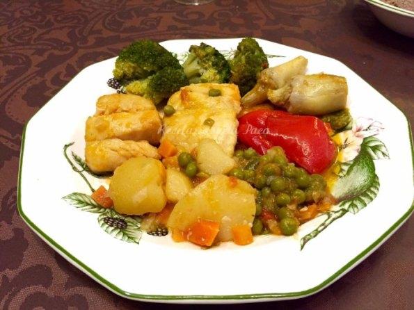 bacalao con verduras de maria luisa lorenzo blog