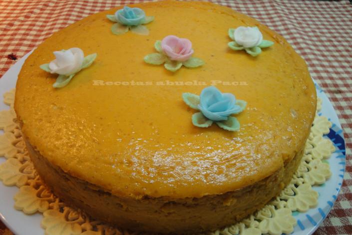 Tarta de calabaza ofrecida por Antoñita García