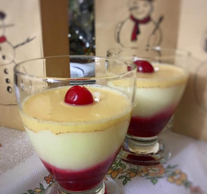 Crema de arroz con leche con sabayón y coulis de frambuesa con TM5