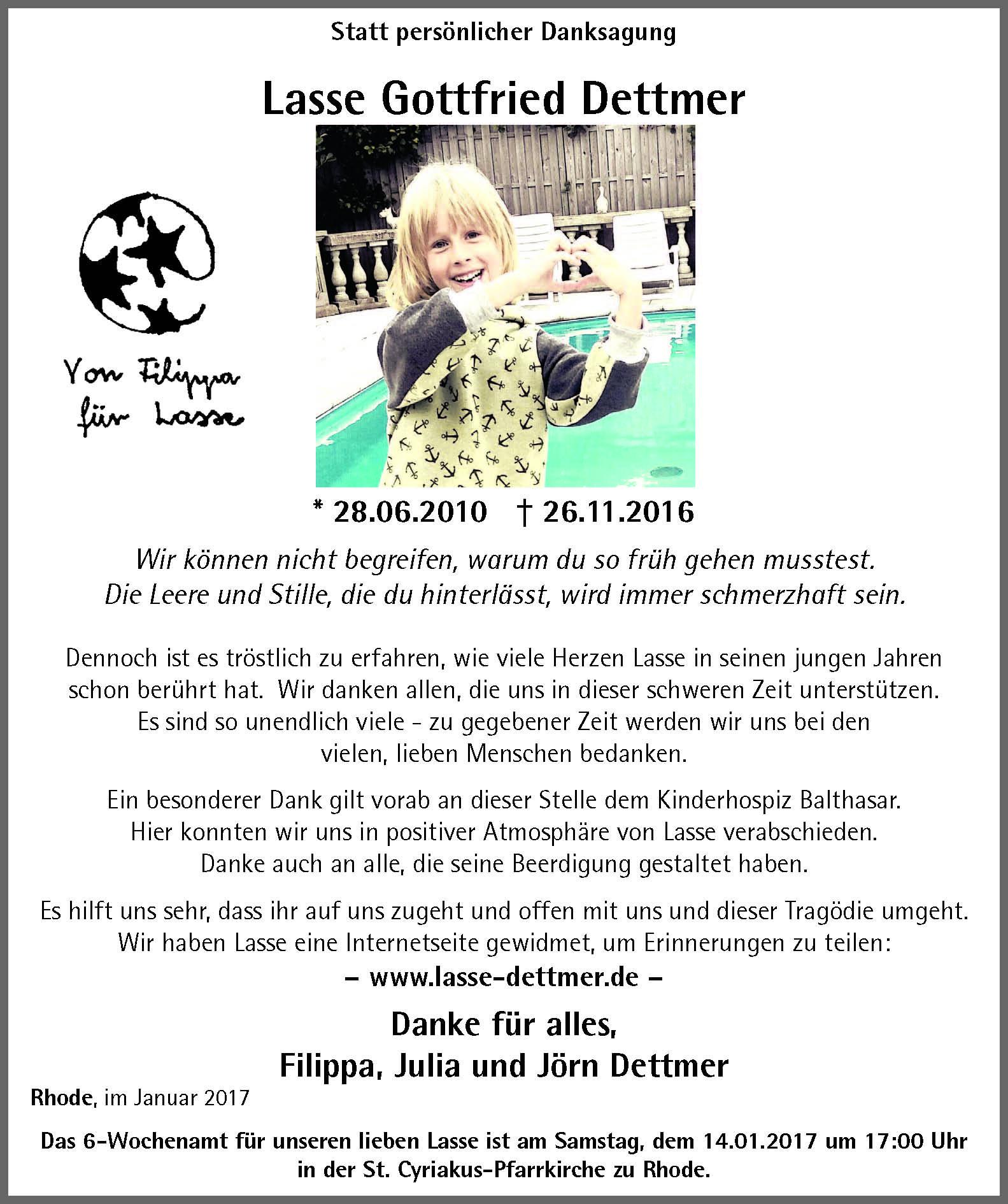 Trauer  Seite 2  Lasse Dettmer