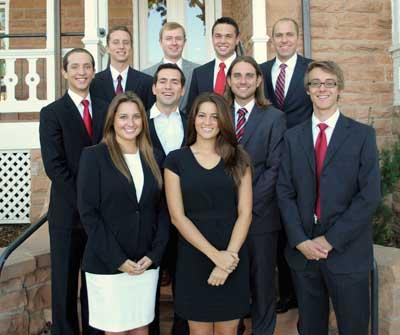 Utah Entrepreneur Series student managers pose at the Lassonde House. 2012-2013