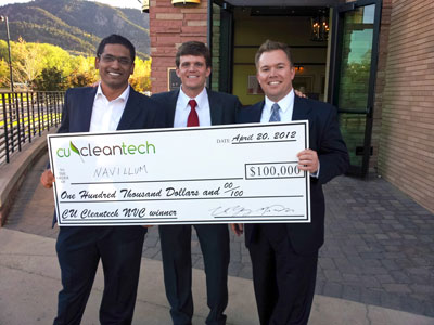 M.B.A. students won $100,000 at the CU Cleantech New Venture Challenge.