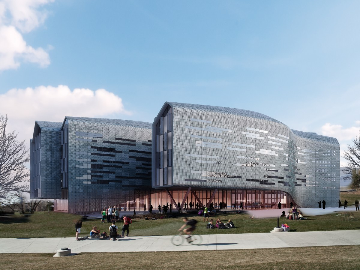 Digital rendering of Lassonde Studios at the University of Utah. (early edition)