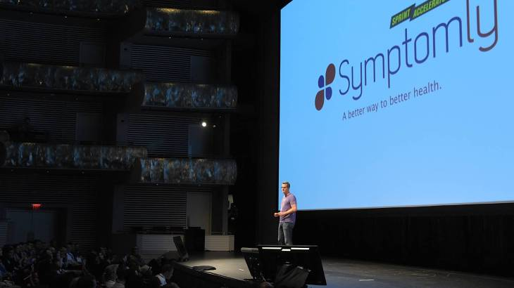 U startup, Symptom.ly presents at Demo Day by Techstarts.