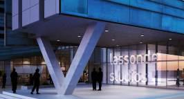 Digital rendering of Lassonde Studios at the University of Utah.