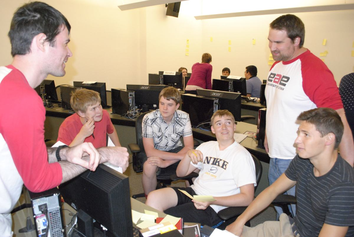 Students in the EAE program teach high school students.