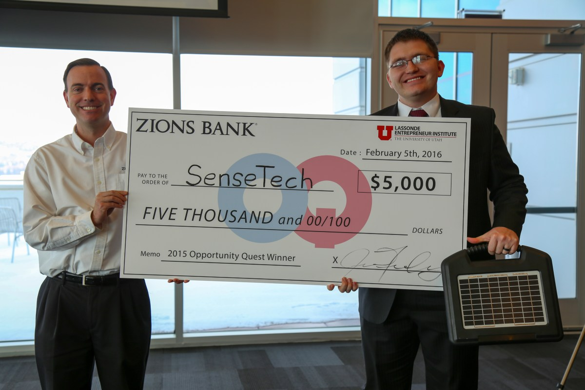 U Student Winners from the 2016 Opportunity Quest, funded by Zions Bank.