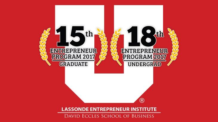 University of Utah Entrepreneurship Ranking