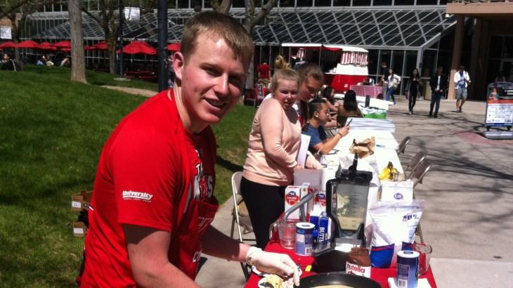 Jordan Nilsson has a crepe food cart startup