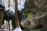 Frankenjura boulder alles schlampen ausser mutti 7a Krottenseer Forst