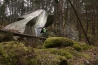 Fontainebleau boulder Rainbow Rocket 8a Font Bleau
