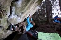 Fontainebleau boulder Beatlejuice Beetlejuice 7a Sloper mantle Font Bleau