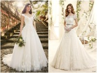 Lace cap sleeve wedding dress | Bridal dresses with short ...