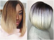 ombre short and long bob hair
