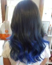 blue ombre hair color light