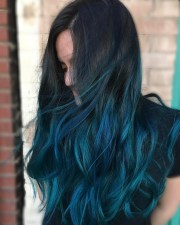 blue ombre hair color light