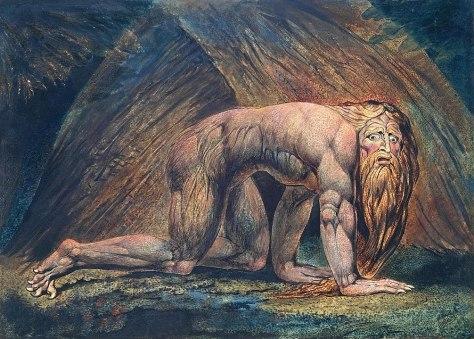 King Nebuchadnezzar painted by William Blake
