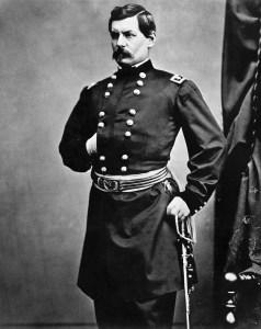 George Mcclellan Standing In Uniform