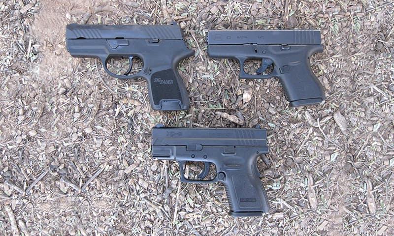 Sig Sauer, Glock 43, Springfield XD. Все эти небольшие пистолеты хорошо подходят для экстренной эвакуации.