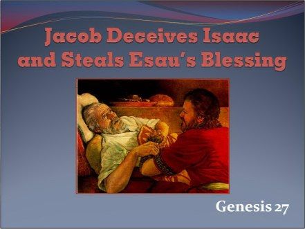 Image result for Isaac and rebekah and Jacob's deception