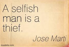 Dating a selfish man