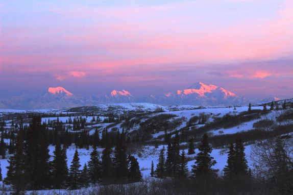 Another amazing view of Denali from Caribou Lodge Alaska!