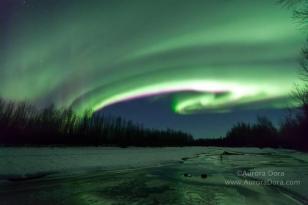 """""""Aurora Tornado"""" by Aurora Dora - Captured Contrast in Talkeetna, AK!"""