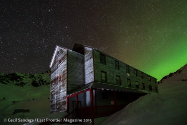 Aurora at Independence Mine. www.cecilsandersphotography.com