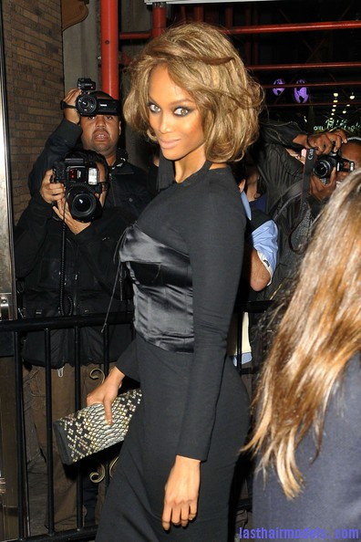 Tyra banks fluffy mashed bob Newer maned hairstyles