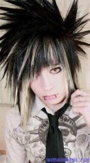 spiky emo hair models