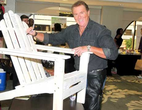 Michael McGrady signing the Project Green chair.