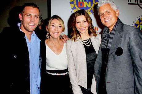 Jessica Biel and family.