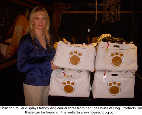 Shannon Miller showcase her House of Dog bags at GBK MTV movie award gift suite