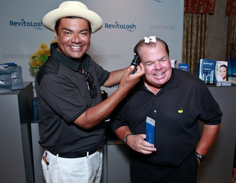 George Lopez & Friend Bruce McNall with Revitalash