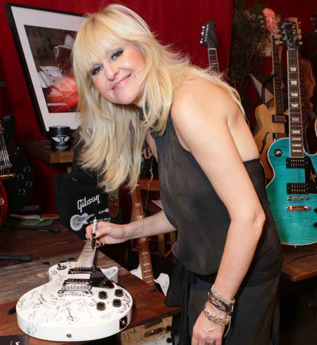 Saxaphonist Mindi Abair attends the GRAMMY Gift Lounge during the 56th Grammy Awards at Staples Center on January 25, 2014 in Los Angeles, California. (Photo by Tiffany Rose/WireImage)