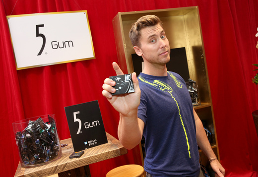 Lance Bass with 5 Gum